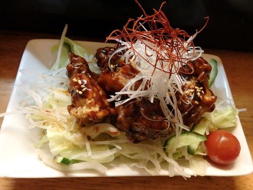 68鶏の唐揚中国味噌和え