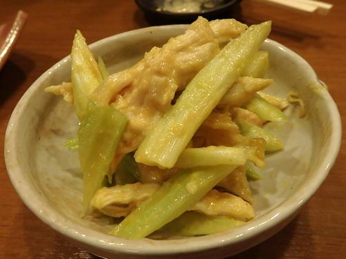 17鶏ムネ肉とセロリの酢味噌和え