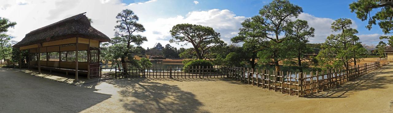 s-20141227 後楽園今日の園内定番位置からの展望ワイド風景 (1)