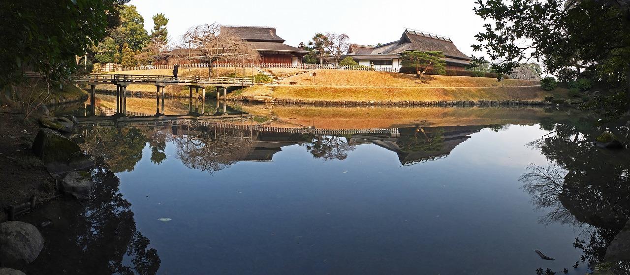 s-20141230 後楽園花葉の池の冬のワイド風景 (1)