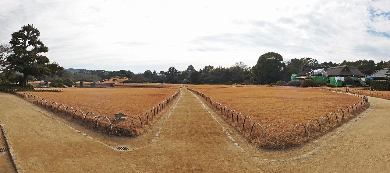 s-20150114 後楽園今日の園内入口から眺めたワイド風景 (1)