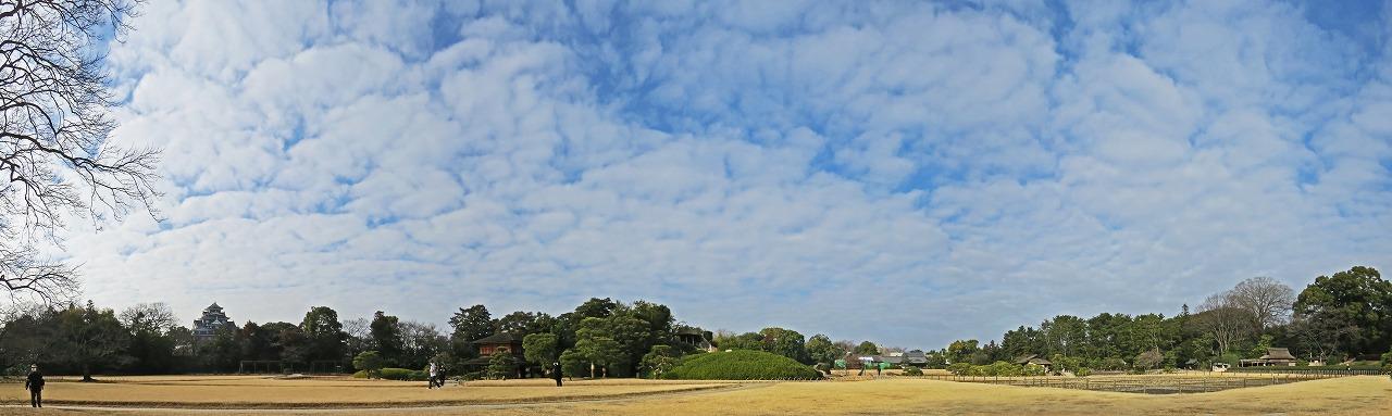 s-20150124 後楽園イベント広場から眺めた今日の空模様ワイド風景 (1)