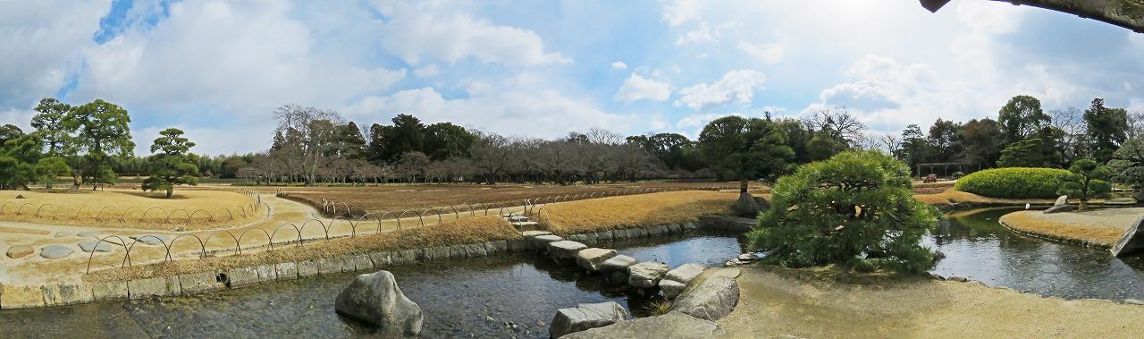 s-20150209 後楽園今日の園内流店から眺めたワイド風景 (1)