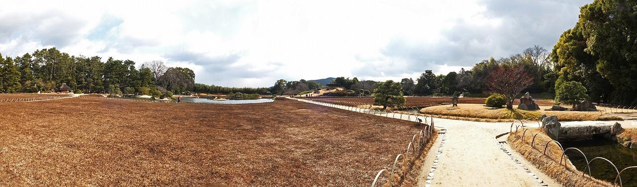 s-20150213 後楽園今日の延養亭付近から眺めた園内ワイド風景 (1)