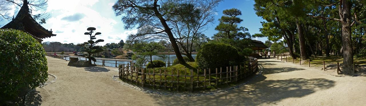 s-20150219 後楽園慈眼堂付近から眺めた今日の園内ワイド風景 (2)