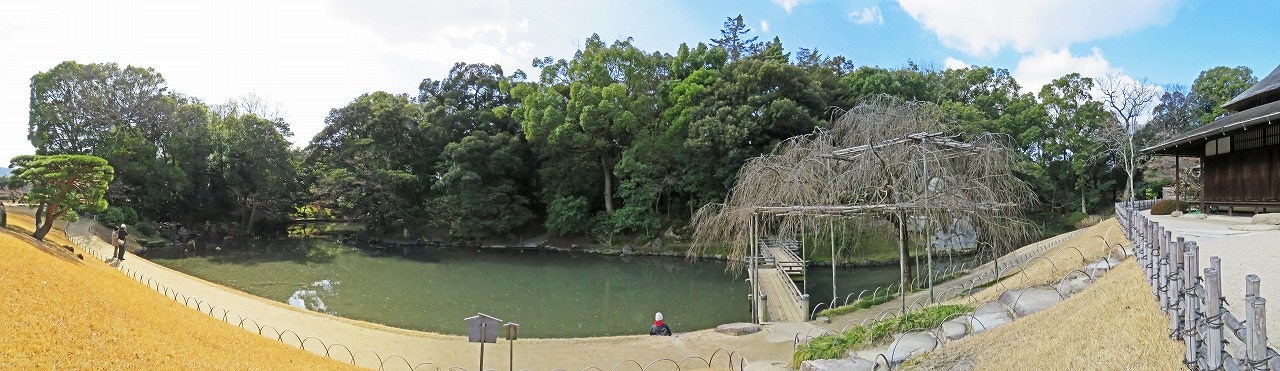 s-20150227 後楽園オシドリの消えた今日の花葉の池のワイド風景 (1)