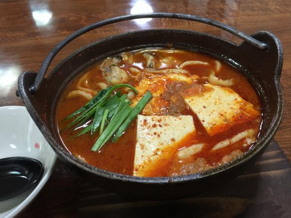 牡蠣と豆腐のチゲ鍋うどん7