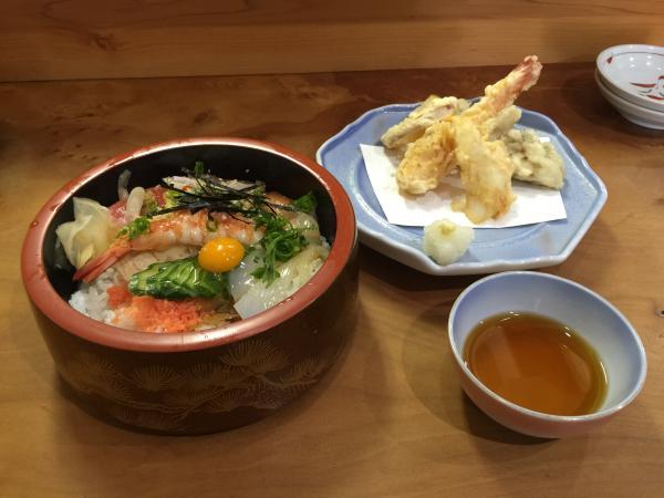 海鮮ちらしと天ぷら6