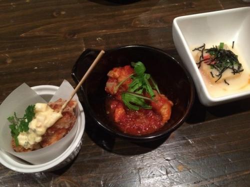 2015-04-29トマト日込み、唐揚げ、豆腐