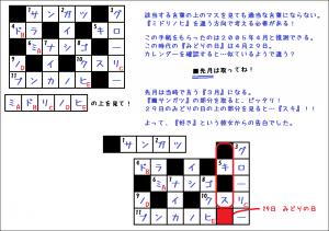 GWのフクシュウ謎2【解答】