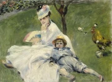 モネ夫人と息子、ワシントン