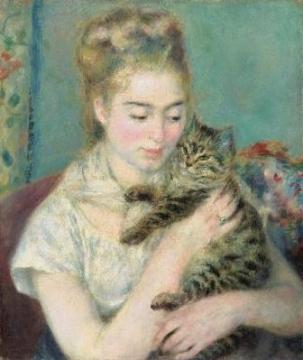 猫を抱く女性、ワシントン