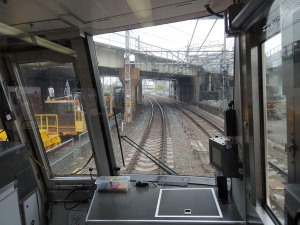 阪和線をアンダークロス