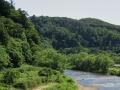評定河原から見た山