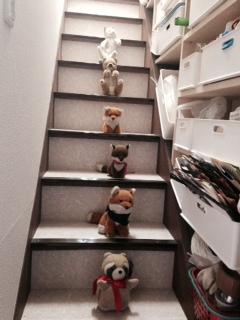 階段ぬいぐるみ