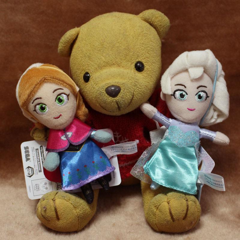 アナ、エルサの人形と