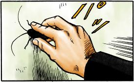 寄生獣 フルカラー版 1巻 p152~ゴキブリを捕る