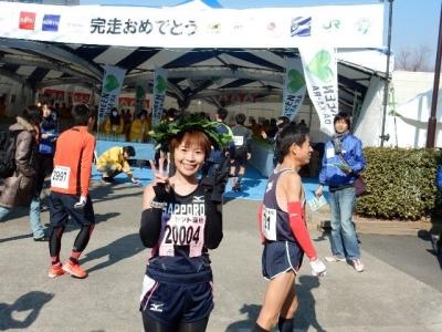 青梅マラソンゴール