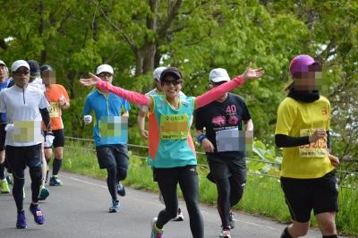 2015年洞爺湖マラソン、えいこさん