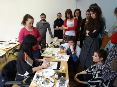 201502 Slovakia Suibokuga Workshop02