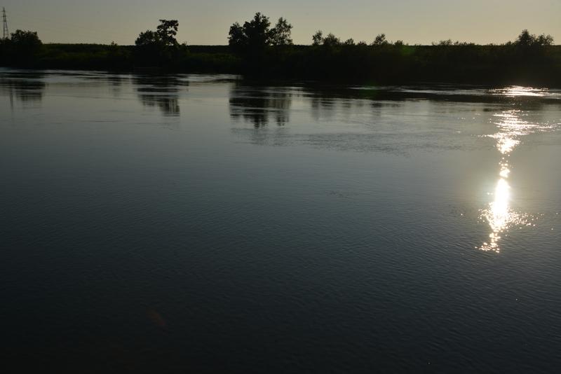 堰の夕陽-1