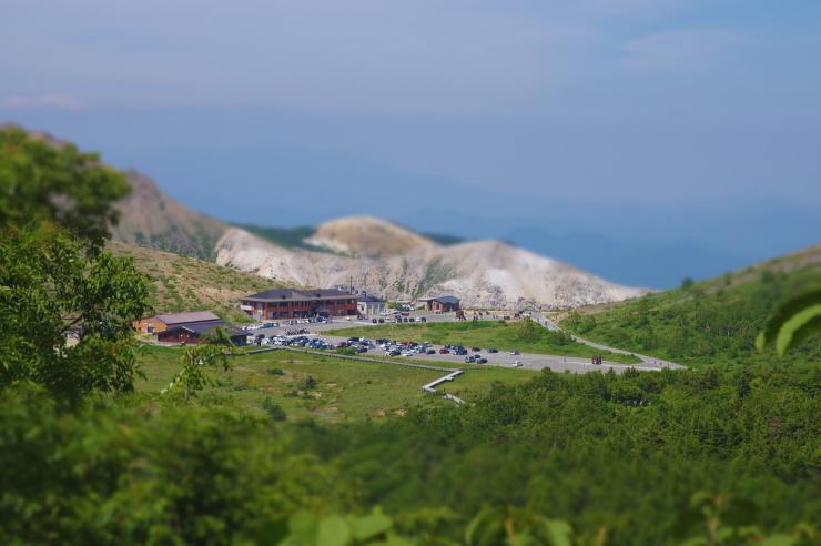 栂平登山道からの眺望