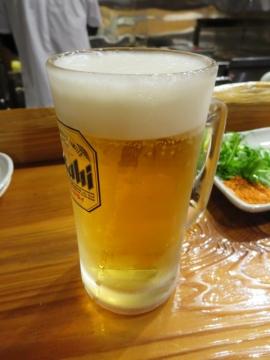 生ビール小(スーパードライ) 400円
