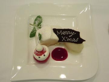 クリスマスのレアチーズタルト sorbet a poire