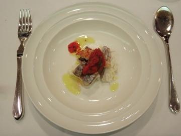 福岡県産天然真鯛マリニエール a la tomate fraiche
