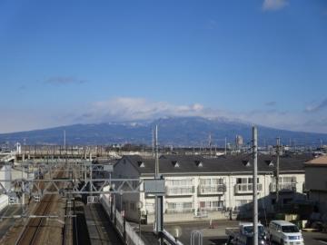 駅から望む赤城山