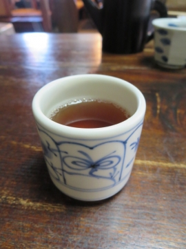 最後に熱々のお茶