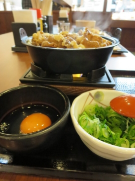 牛すき鍋うどん 580円