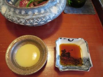 酢味噌と醤油で