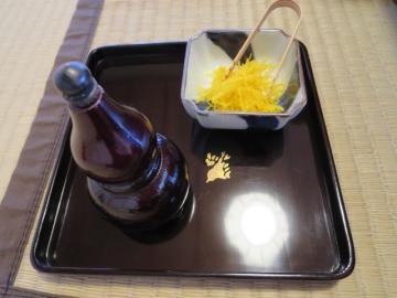 鍋の薬味、柚子と山椒粉