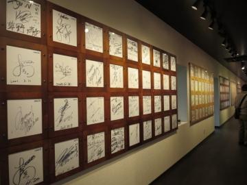 博物館内はサインが沢山