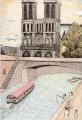 ノートルダム寺院の模写
