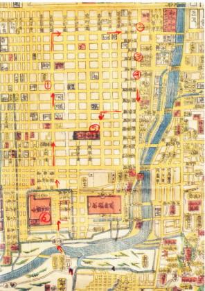 京都地図1864