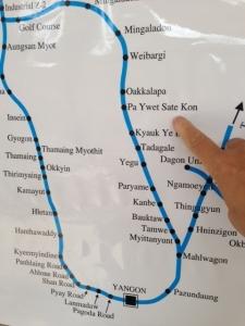 環状線路線図