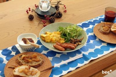 林檎ジャムの朝食