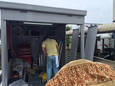車庫 側面棚1