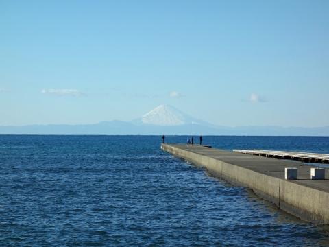 16館山海岸から富士山