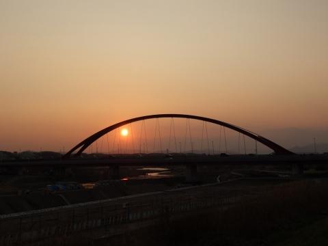 21多摩大橋の落日