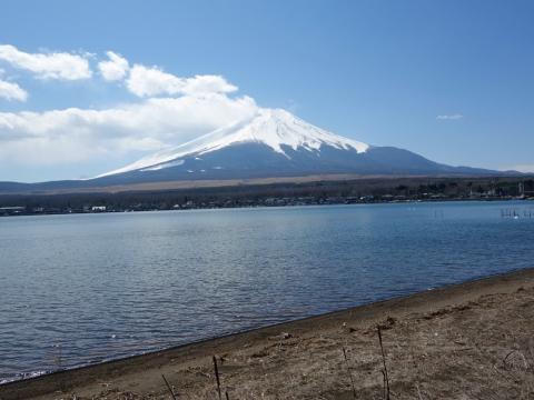 25山中湖の富士山