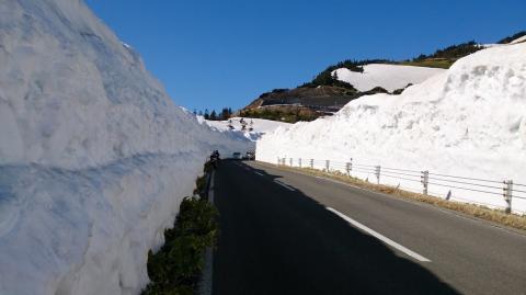 21渋峠へ:雪の回廊