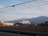 富士山を見ながら走る