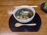 山菜蕎麦の昼食