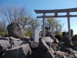 黒檜山の山頂付近の社