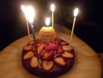 バースデーチョコケーキ2