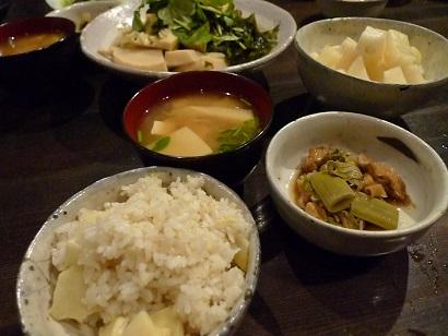 竹の子の夕飯