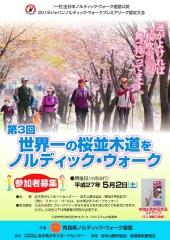 桜並木道をノルディック_600